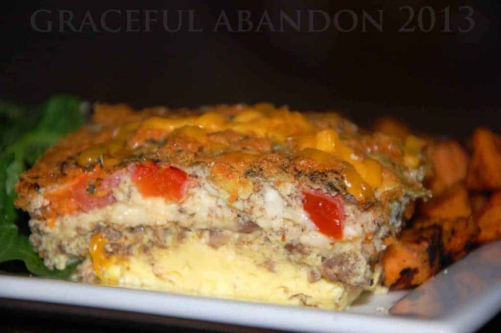 crustless quiche no carb trim healthy sausage egg dinner frugal