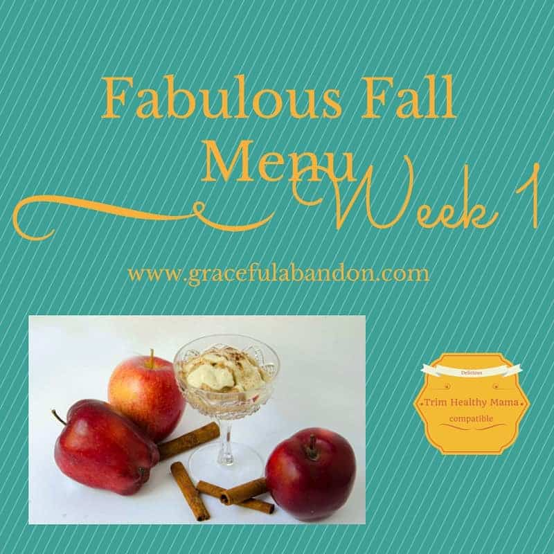 THM Fall Inspired Menu Week 1