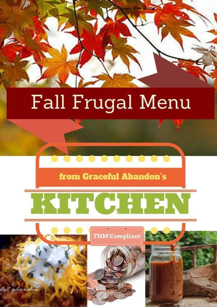 Frugal Menu, THM, large family meals, healthy meals, menu plan