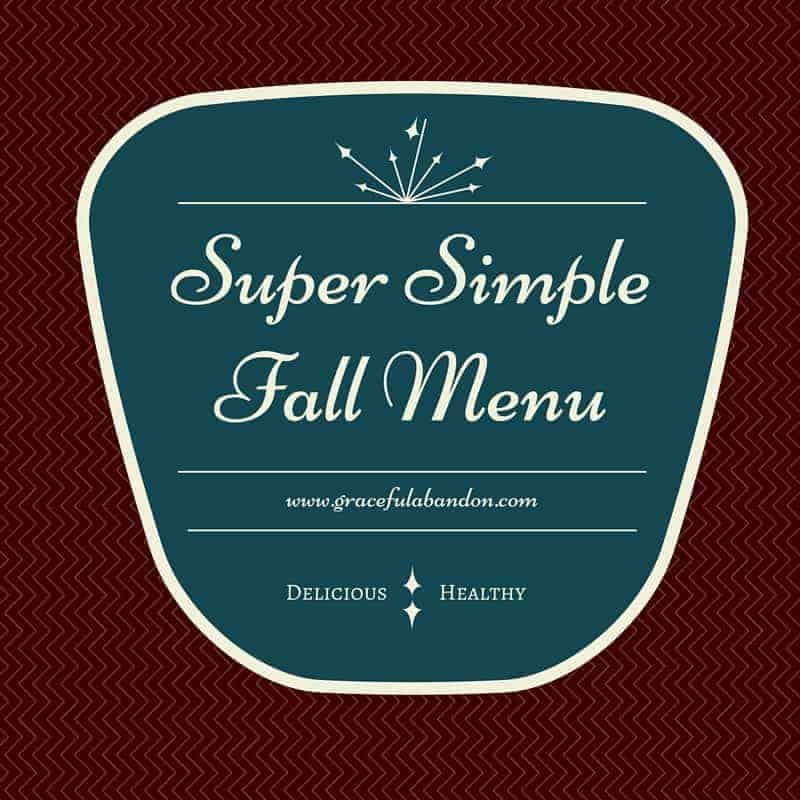 super simple fall thm menu graceful abandon