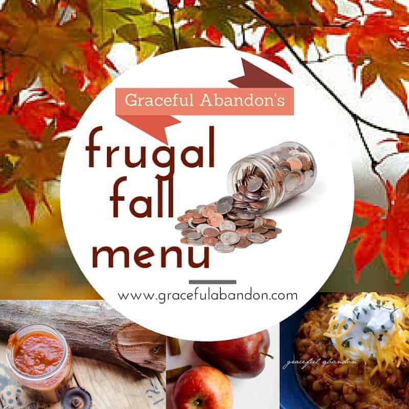 graceful abandon frugal fall menu healthy eating large family planning THM compliant